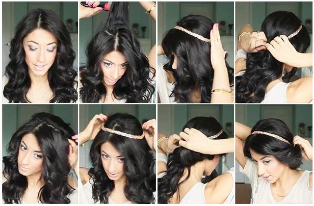 Прическа в греческом стиле своими руками с длинными волосами